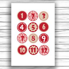 Otthon elkészíthető ovis fejlesztő játék 9 And 10, Advent Calendar, Holiday Decor, Cards, Bricolage Noel, Creative, Advent Calenders, Maps, Playing Cards