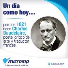 Un día como hoy, 9 de abril, pero de 1821 nace Charles Baudelaire, poeta, crítico de arte y traductor francés.