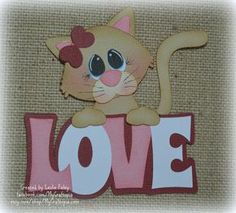 Items similar to Valentines Cat Love Title Premade Scrapbooking Embellishment Paper Piecing Die Cuts Card Scrapbook on Etsy Vintage Scrapbook, Scrapbook Paper, Scrapbook Layouts, Paper Piecing, Foam Crafts, Paper Crafts, Sitting Girl, Clown Party, Die Cut Cards
