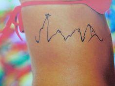 Rio skyline tattoo
