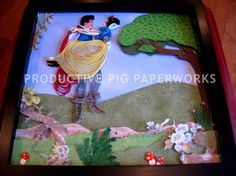 True Love: Snow White and Prince Charming Quilling