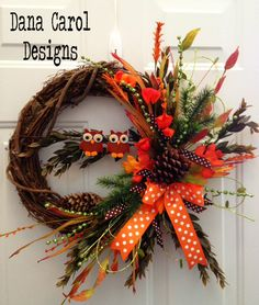Owl Fall Wreath...Totally want this