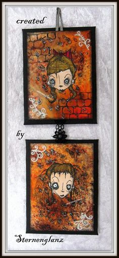 Artwork created by Sternenglanz using rubber stamps designed by Daniel Torrente for Stampotique Originals