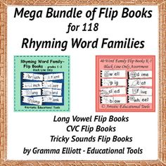 Rhyming Word Family Flip Books is BW Only - Ready to Color - or not. (colored pencils work best.) Word families present in this package are in the Index and Table of Contents at the end of this product and in the preview: Ack, ad, ail, ain, air, ake, all, am, ame, amp, an, anch, and, ane, ang, ank, ant, ap, ape, ar, arp, ash, ast, at, atch, ate, aw, ay Ble, Dle,