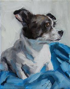 """The Daily Dog - Eighteen"" - Original Fine Art for Sale - © Clair Hartmann"