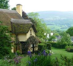 The perfect quaint village setting in Somerset in England.