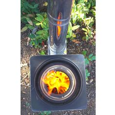 """The SilverFire Hunter Stove at http://TheEpicenter.com/camping_hiking_and_backpacking_accessories.html. Hunter Specifications: - Cooking Fire Power: 1.5 KW - Thermal Efficiency: 35% (StoveTec/EcoZoom 30%) - Emissions Concentration (smoke): 25mg / m3 - SO2 20mg / m3 - NOx: 120mg / m3 - CO: 0.1% - Stove Weight: 14.5 lbs / 6.59 kg - Dimensions: 12"""" square x 16"""" tall / 30.5 cm x 40.6 cm tall"""