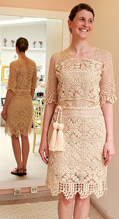 Carolina Portich crochet dress