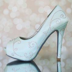 Blue Wedding Shoes, Blue Wedding, Aqua Wedding Shoes, Something Blue, Something Blue Shoes, Vintage Wedding, Filigree, Filigree Wedding, Art Deco Wedding