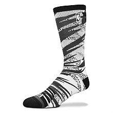 For Bare Feet NBA Logo 2013 All Star Camo Bright Crew Sock