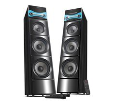 The beaming Hard Rock 3 Tower speakers stand tall to pump out thunderous sound that radiates in every direction. Exude confidence, having these white coloured multimedia tower speaker at your home. Designed to perfection, with a built-in amplifier, the speakers promise to reflect the purity of sound. They are magnetically shielded to use PC and TV without an iota of interference. The speakers offer Bluetooth connectivity, USB, SD, MMC options. Easily grab those extra eyeballs with these…