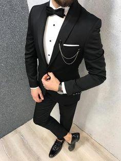 Check Oblivion Groom Suit – Black Product: Slim-Fit Shawl Collar Grooms Vest Suit Color Code: Black Size: Suit Material: viscose, poly Machine Washable: No Fi. Slim Fit Tuxedo, Tuxedo For Men, Slim Suit, Taxido Suit, Mens Fashion Suits, Mens Suits, Groom Suits, Mens Suit Jackets, Mens Tux