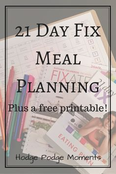 This is the printable I use to plan all of my 21 day fix meals. Simple and easy to use.