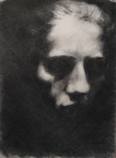 Lucie Geffre - Head, charcoal