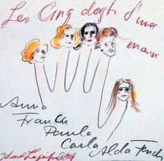 Karl Lagerfeld: les cinc dorfts d`une maine: es soeurs Fendi et Karl Lagerfeld- les sœurs FENDI reprennent alors chacune une branche de l'entreprise : Paola est en charge des fourrures, Anna de la maroquinerie et du prêt-à-porter, Franca des boutiques et de la relation client, Carla de l'administration et Alda de la production. A la fin des années 80 grâce à elles, Fendi est une marque symbole d 'élitisme et de jetset.