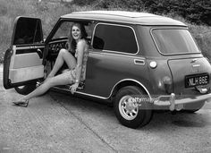 An Austin Mini Cooper S owned by Mike Nesmith of the pop group 'The Monkees