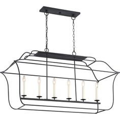 Shop for Gallery Island Black Steel 6-light Chandelier With Royal Ebony Finish. Get free shipping at Overstock.com - Your Online Home Decor Outlet Store! Get 5% in rewards with Club O! - 20564594