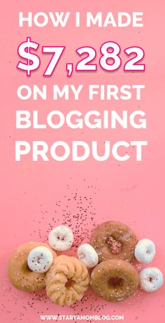 Lots of good details in this post about how this writer made $7,282 on her First Blogging Product