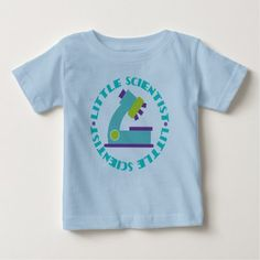 Scientist Kids Science Microscope Cute Baby Tee - click/tap to personalize and buy
