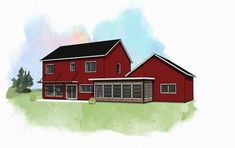 4 Bedroom 3 Bath Spacious Home *really like this. separate garage/studio with screened porch and breezeway connecting. all good sizes. Building Code, Building A House, Build House, Mortgage Amortization, National Building, Passive Design, Refinance Mortgage, Bedroom Red, Passive House