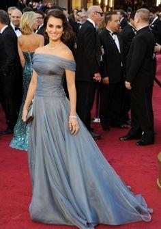 A-line Off-the-shoulder Court Train in Organza 84th Oscar Dress 2012