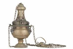French antique church incense burner, thurible. $350.00, via Etsy.