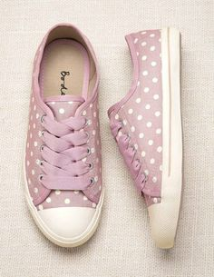 Pink Polka Dot Boden Sneakers