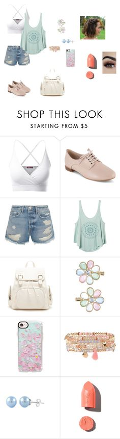 """""""untitled 6"""" by mikayla-payant ❤ liked on Polyvore featuring Doublju, Clarks, Frame, RVCA, Forever 21, Monsoon, Casetify, Accessorize and PUR"""