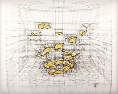 Phoebis, Triple Helix by Rafael Araujo: part of his Calculations series, an ongoing examination of the complexity of life told through an imagined mathematical framework