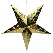 Étoile en papier pliable ROUGE - Décorations : Izaneo.com