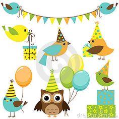 Party birds set by Yulia87, via Dreamstime
