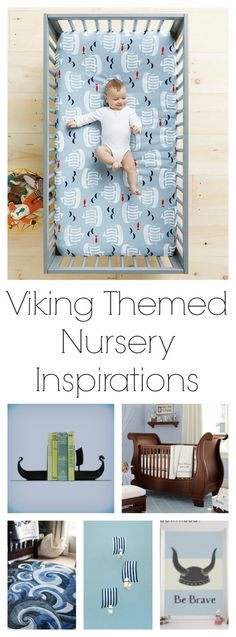 Adventure themed nurseries are so popular right now, so I decided to take my own spin on the adventure theme by doing a Viking themed nursery for Baby Boy #2.    These are my my top ideas and inspirations for the Viking themed nursery!
