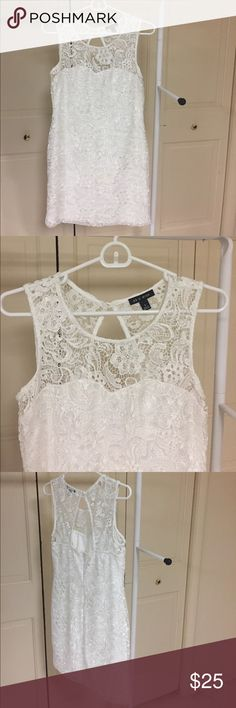 White Lace Dress Worn twice, originally bought at Macy's. Great homecoming or formal dress. As U Wish Dresses