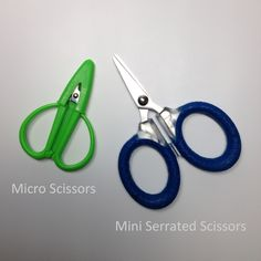 Micro Scissors vs. Mini Serrated Scissors