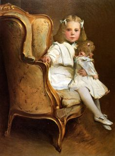 John White Alexander - A Young Girl With Her Doll