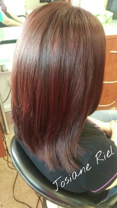 Brown/red hair color