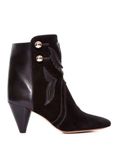 Rick suede and leather ankle boots | Isabel Marant | MATCHESFASHION.COM US