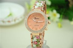 Geneva Fashion Women Ceramic Bracelet Watch