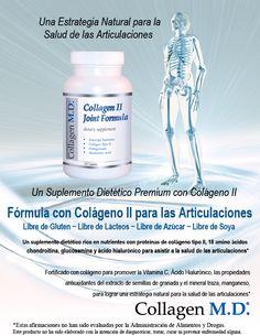 Colágeno tipo 2 - Collagen M.D.® Fórmula con Colágeno II para las Articulaciones Suplemento Dietético Profesional #SuplementoDietéticoProfesional #LibreDeGluten #CollagenMD #Colágenotipo2 #LibreDeSoya