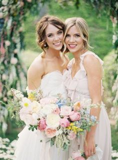 bride and her maid of honour