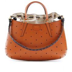 Fendi B.Fab Mixed-Media Shoulder Bag