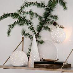 Nobili juletræ Snehvid - Julepynt fra Kähler - Lysestager