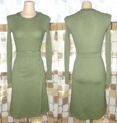 Vintage 60s 40s MOD Olive Green Army Military Wool Knit Sweater Dress SEXY CHIC M/L $9.99  http://www.ebay.com/itm/VTG-60s-40s-MOD-Olive-Green-Army-Military-Wool-Knit-Sweater-Dress-SEXY-CHIC-M-L-/200724211115?pt=Vintage_Women_s_Clothing&hash=item2ebc1865ab