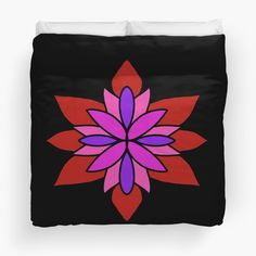"""Lotus Star Design"" Duvet Cover by Pultzar 