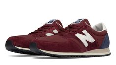 420 Heritage 70s Running, Burgundy with Navy & Off White