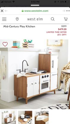 West Elm Mid Century, Diy Play Kitchen, Entryway, Cabinet, Storage, Furniture, Home Decor, Entrance, Clothes Stand