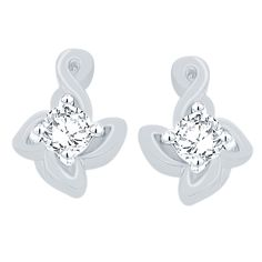 Giantti Silver Diamond Women's Stud Earring - IGL Certified (0.146 Ct, VS Clarity, GH-Colour) >>> Click on the image for additional details. (This is an affiliate link) #Earrings