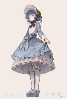 Nitori in a Lolita-style adapted outfit by Iwamoto James