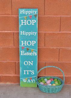 DIY Easter Hippity Hop Sign - Craft-O-Maniac
