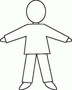 Body template for kids human body outline printable reference website photo gallery examples with human body .